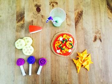 DIY con Play Doh, merienda de cumpleaños