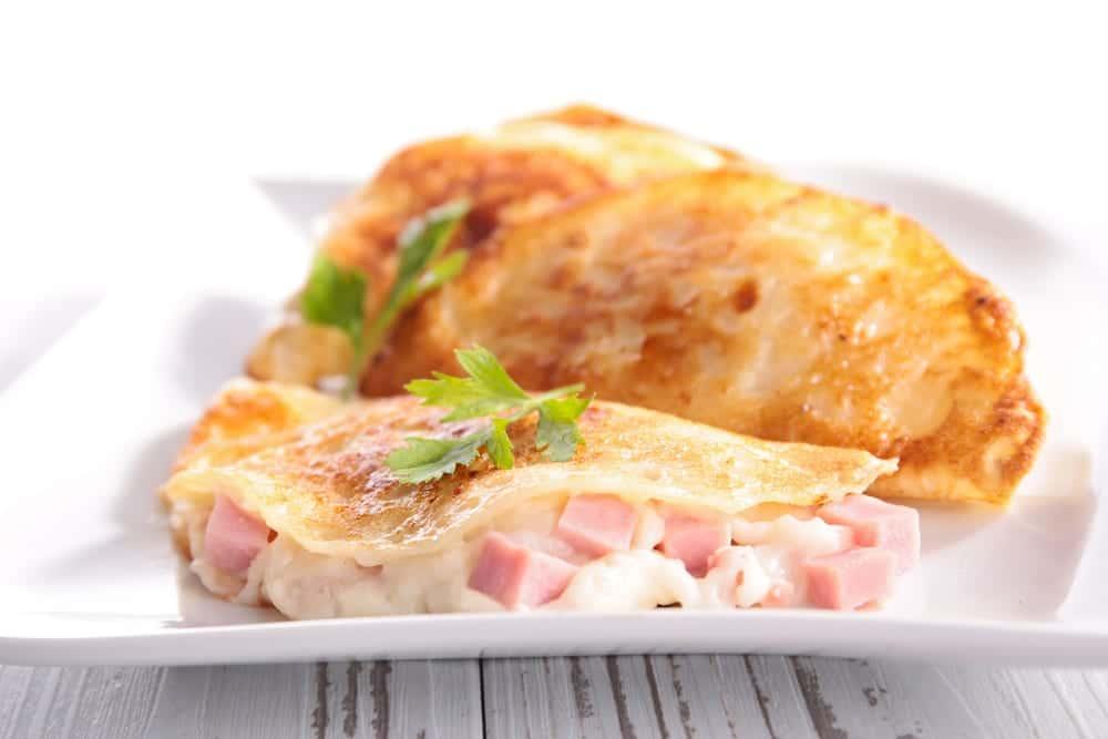 Crepes de queso y bacon recet n for Como cocinar crepes