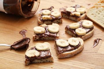 Sandwich de Nutella y plátano