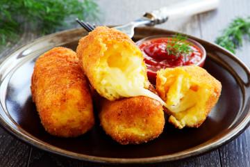 Croquetas de queso ¡Muy muy jugosas!