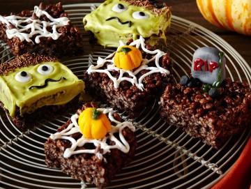 Dulces de Halloween de Arroz Inflado sin horno