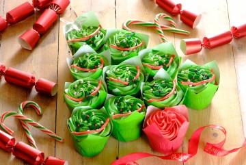Árbol de Navidad de cupcakes
