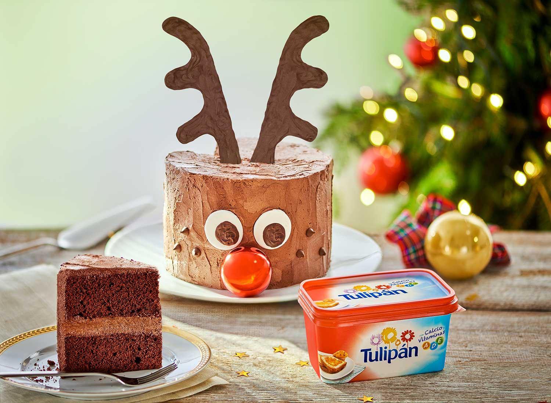 Pastel de reno para Navidad