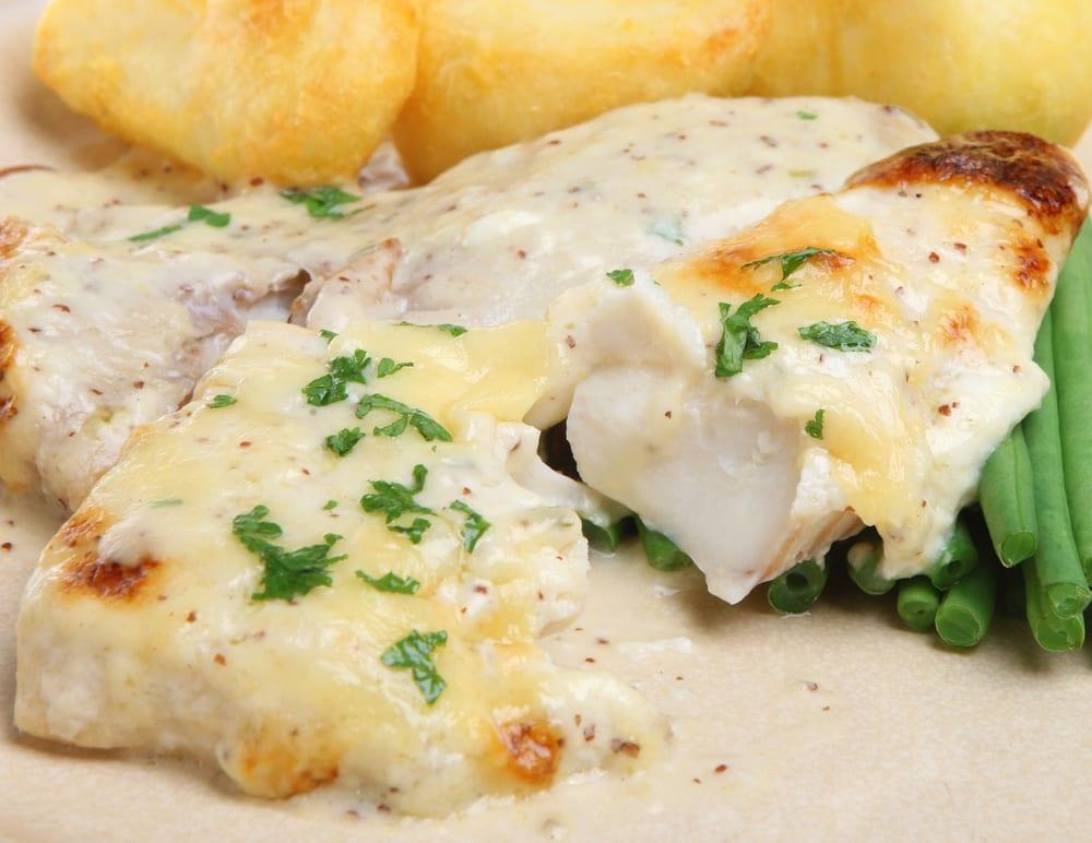 pescado blanco al horno en salsa de nata recet n