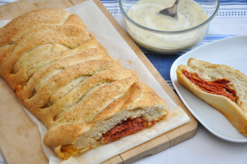 Stromboli de chorizo, para picotear a cualquier hora