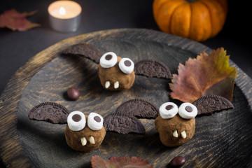 Trufas de murciélago para Halloween