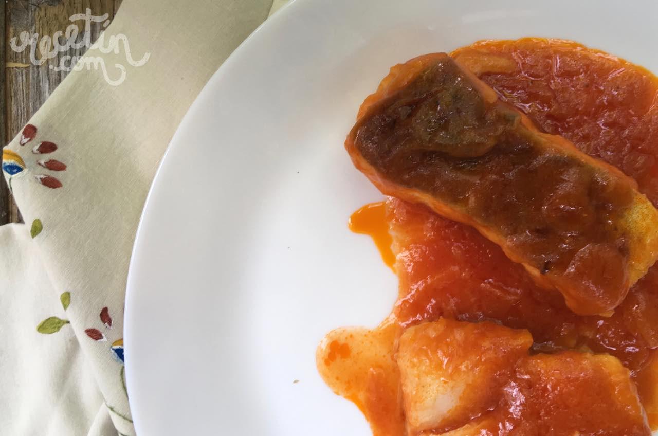 Bacalao con tomate vitabelia - Cocinar bacalao congelado ...