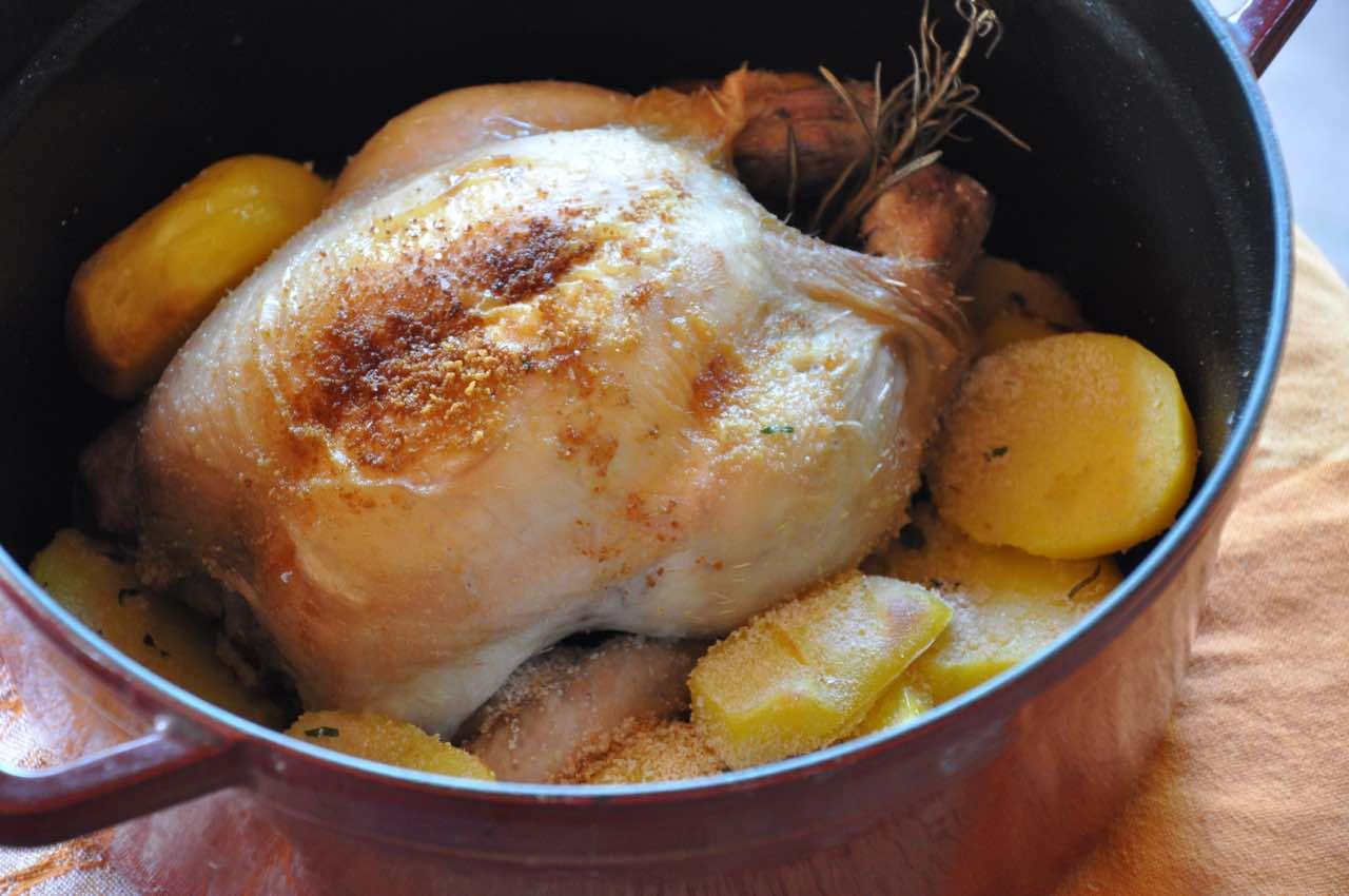 Pollo en cocotte recet n - Cocinar en cocotte ...
