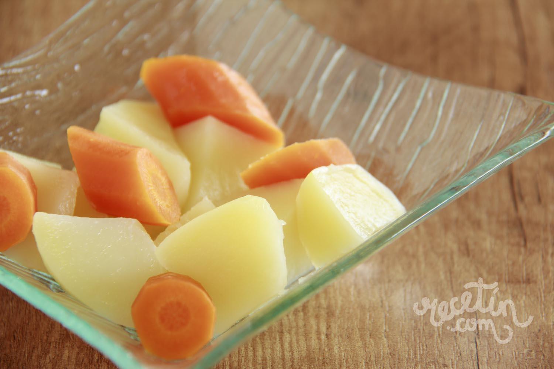 como hacer dieta papas y zanahorias