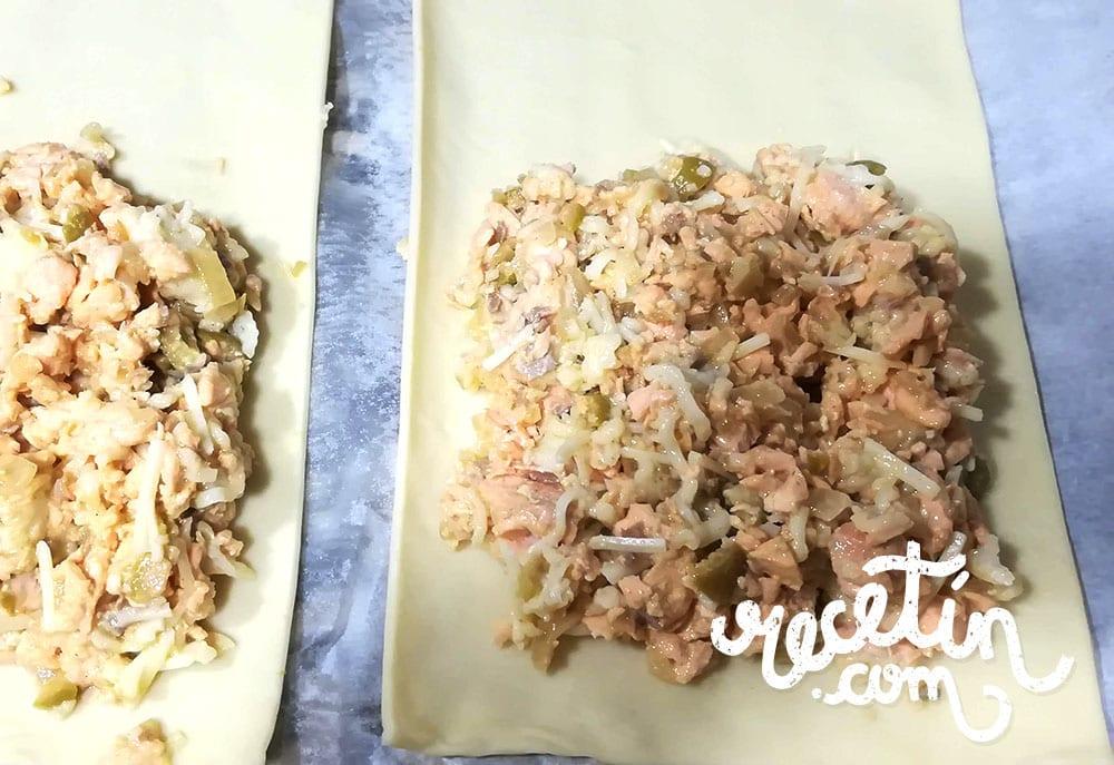 hojaldre de salmon y mostaza