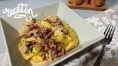 pasta-fresca-con-salsa-de-champiñones-y-jamón