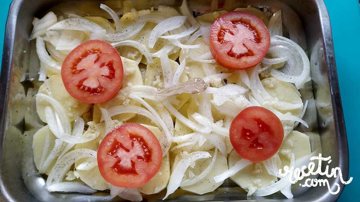 dorada al horno con patatas