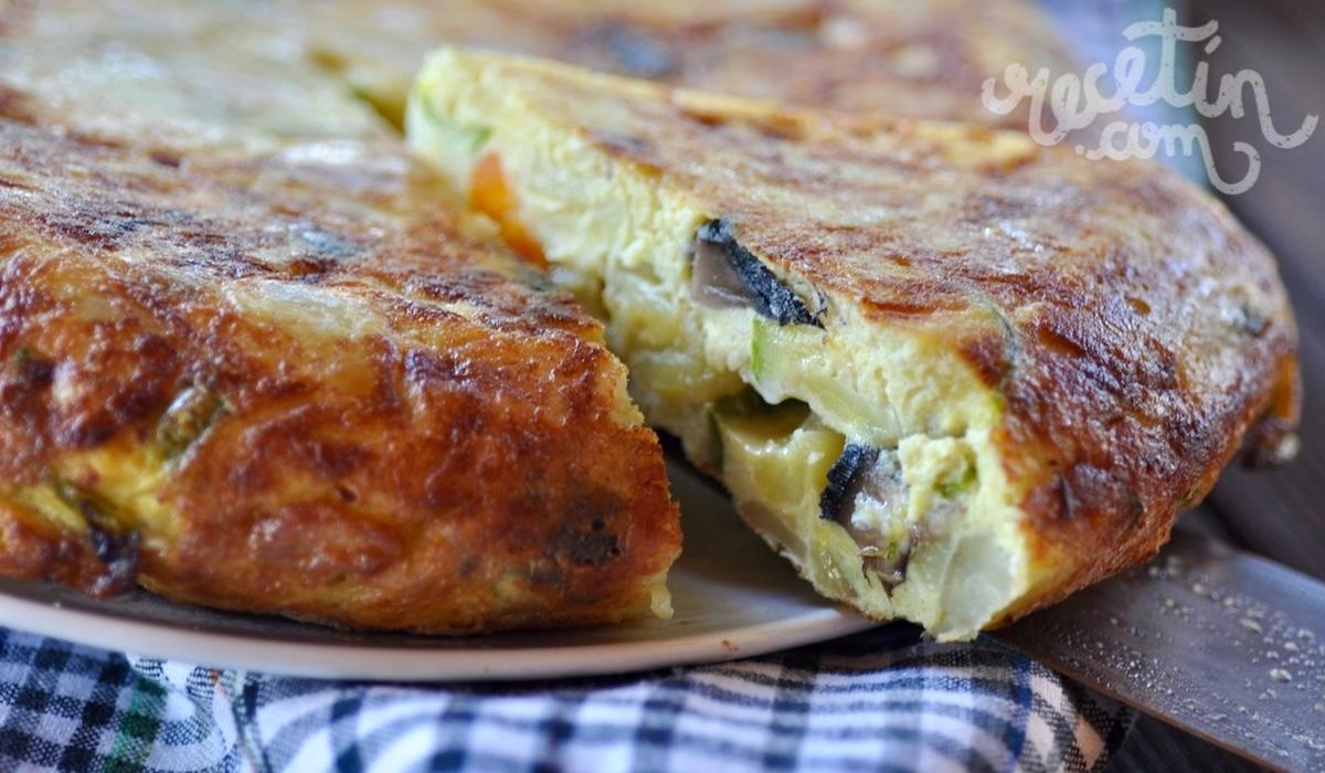 Tortilla de patata y verduras