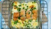 Rollitos de pollo rellenos y con patatas