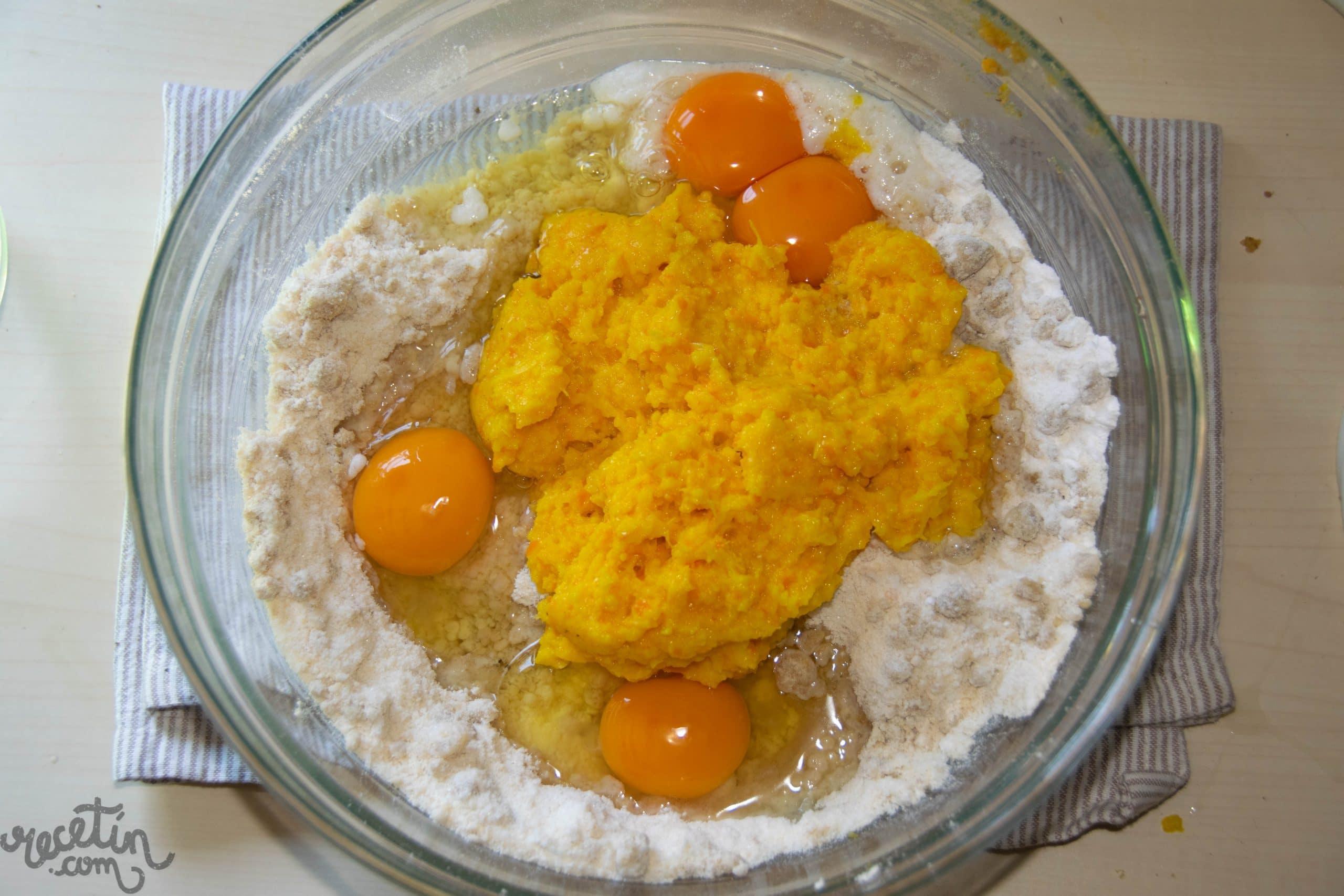 Bizcocho de naranja con nuez y chocolate